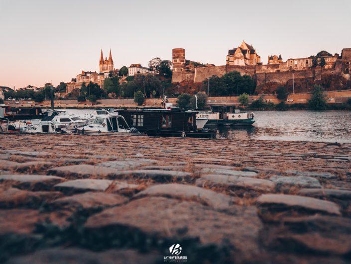 Angers : Coucher de soleil