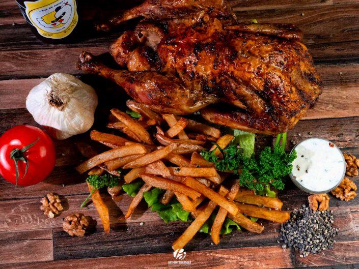 """Shooting """"food"""" menu poulet entier - Maison Poulet Frites Angers"""