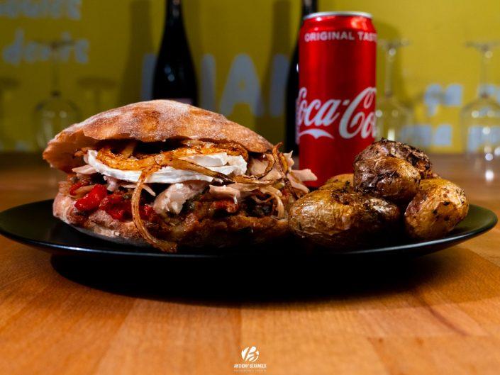"Shooting ""food"" menu burger - Maison Poulet Frites Angers"