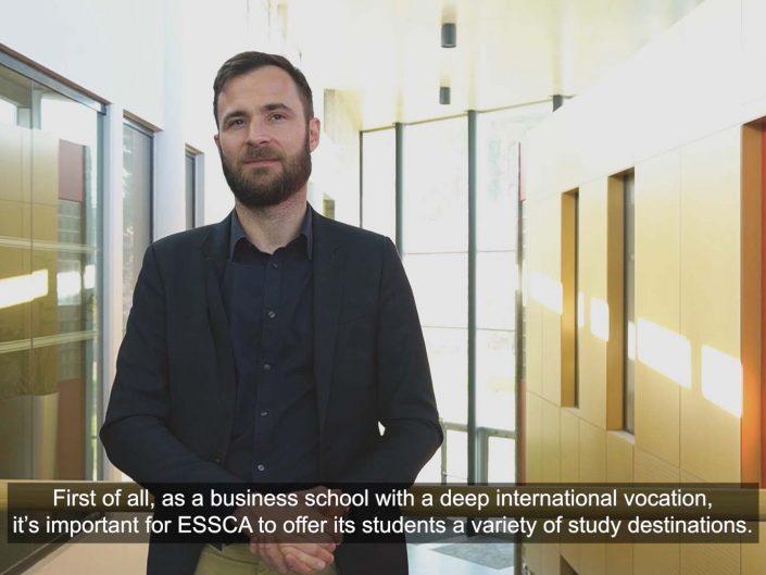 Réalisations vidéos pour l'ESSCA Angers